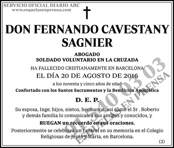 Fernando Cavestany Sagnier